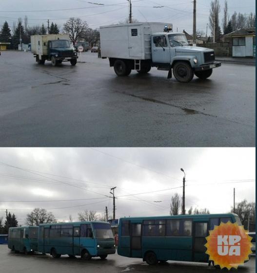Колонна из Луганска.
