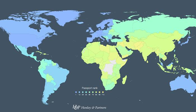Паспорт Украины стал первым по рейтингу в СНГ и 44-м в мире  фото 1