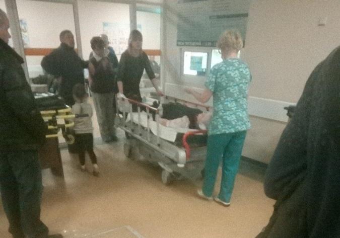 Несколько школьников и учитель попали в больницы с ранениями.