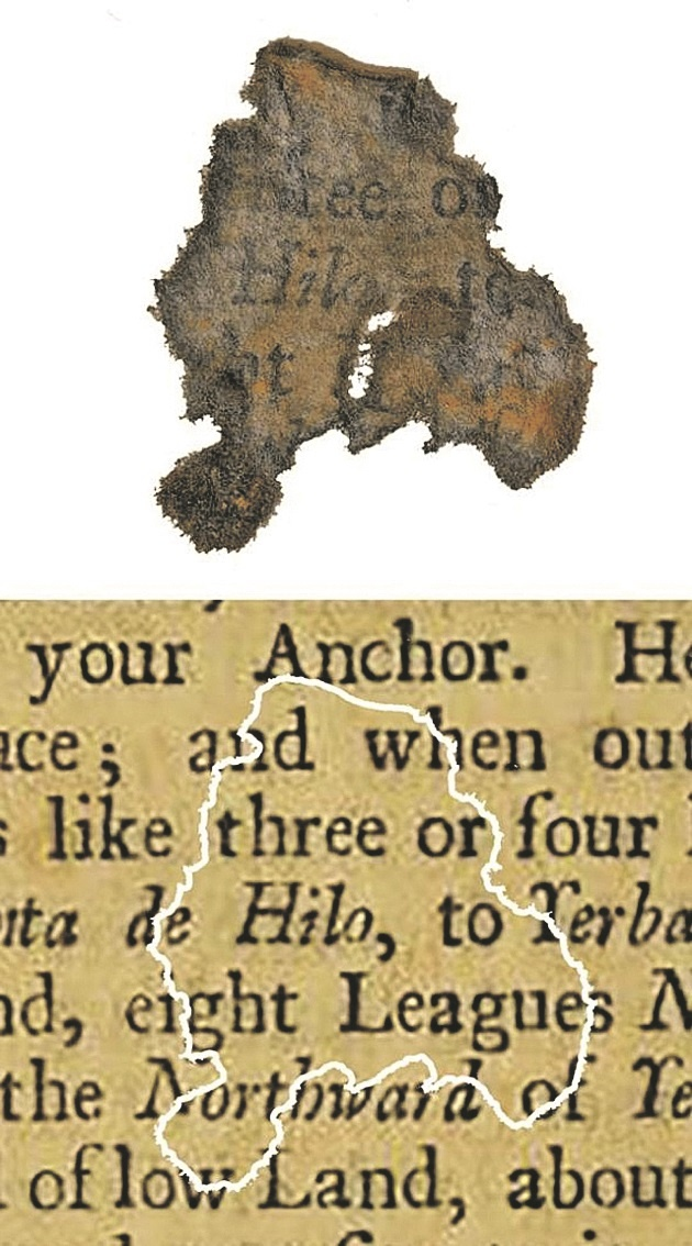 ... Уцелевший обрывок любимой книги морского разбойника.