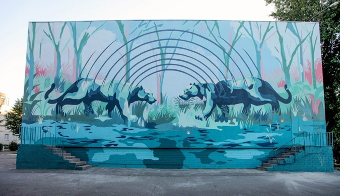 Еще один мурал в Киеве. Автор - Franco Fasoli (JAZ). Фото: francofasoli.com.ar