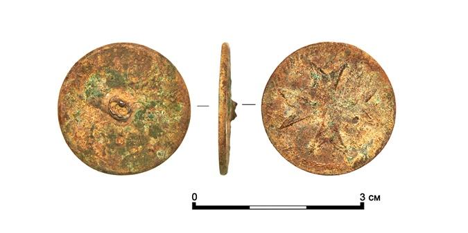 Пуговица XVIII века с символикой Мальтийского ордена.