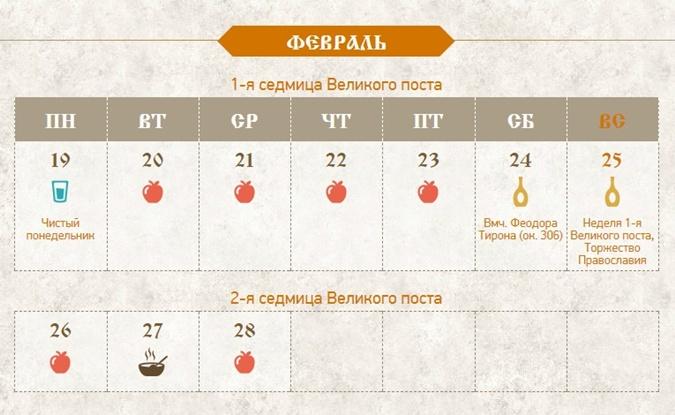 Календарь великого поста с сайта  velikij-post.ru b1036d92094aa