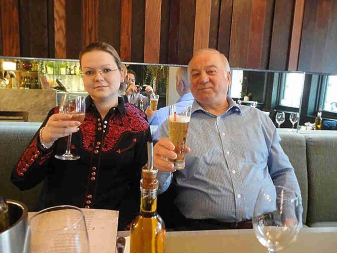 Юлия и Сергей Скрипаль за несколько часов до отравления.