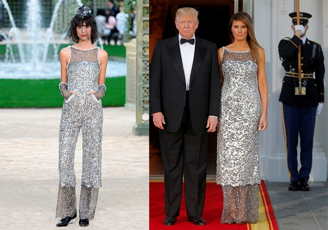 Мелания Трамп заставила дизайнеров Chanel перешить комбинезон в платье  фото 1