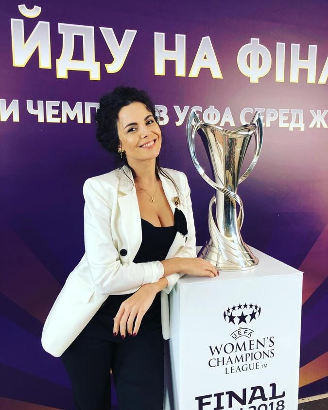 Настя Каменских - один из амбассадоров женского финала Лиги чемпионов.
