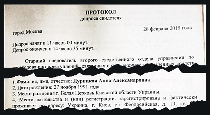 Согласно протоколу допроса Анны Дурицкой, ей уже 26 лет, но в ее анкете на сайте конкурса значится 25.