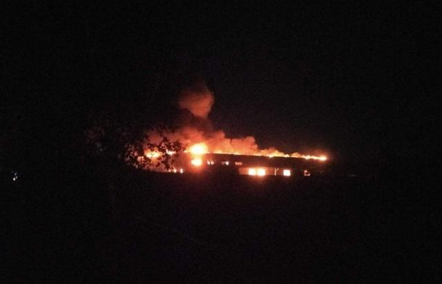 В Мукачево загорелось отделение