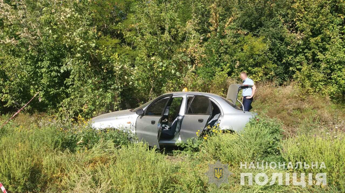 Машину нашли случайно, думали, просто ДТП, а оказалось, что убийство. Фото: ГУНП в Харьковской области