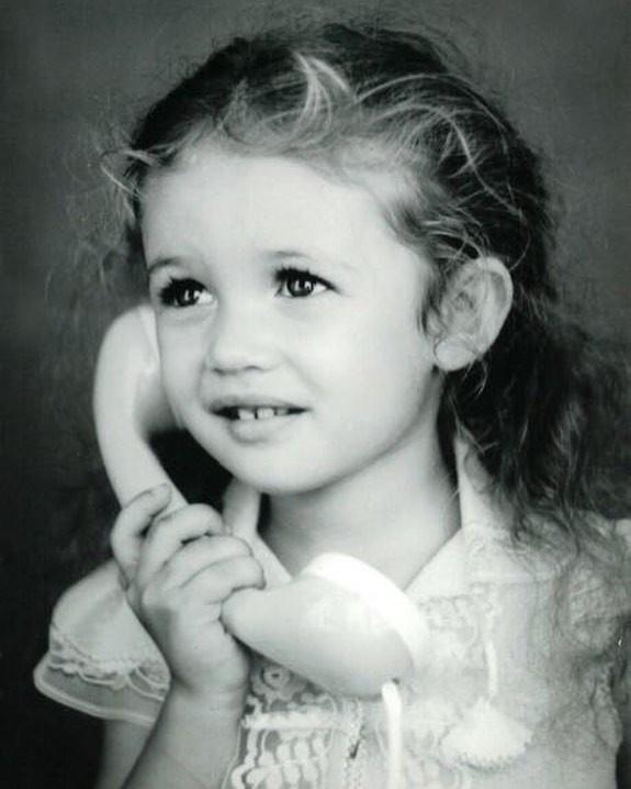 Ольга Куриленко в детстве.