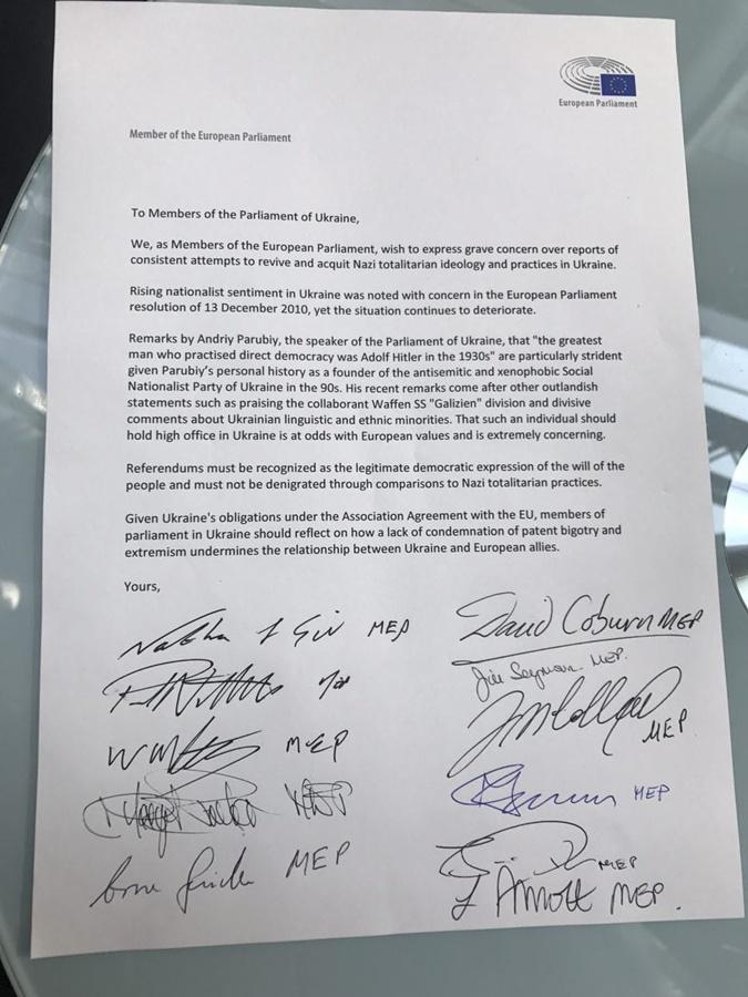 Вилкул: В Европарламенте идет сбор подписей под обращением к Раде с предложением уволить Парубия  фото 1