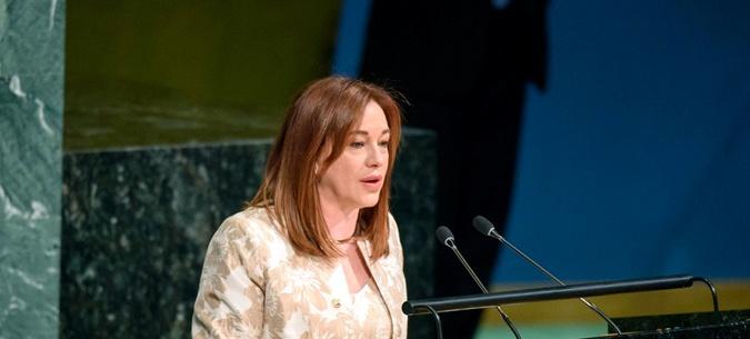 Председатель 73 сессии Генассамблеи Мария Фернанде Эспиноза Гарсес