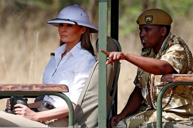 Шляпа Мелании спровоцировала скандал. Фото: REUTERS