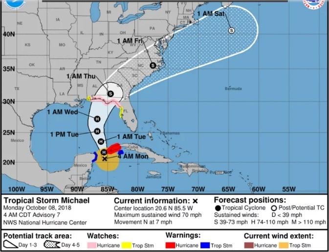 """""""Этот шторм будет опасным для жизни"""", - губернатор Флориды о шторме """"Майкл""""  фото 1"""
