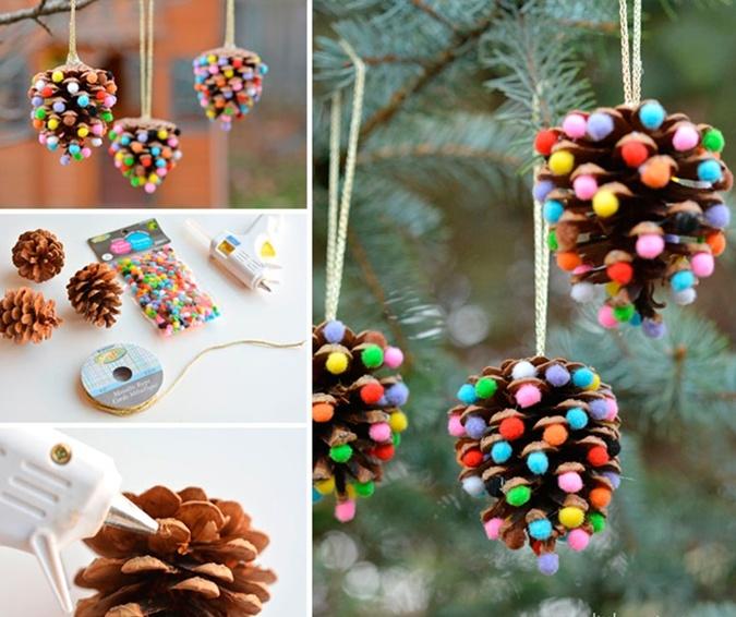 Из шишек, лампочек и соленого теста: 5 идей для новогодних украшений своими руками фото 15