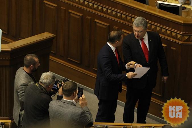 rare Framework: Lyashko Poroshenko and discuss something. photo: