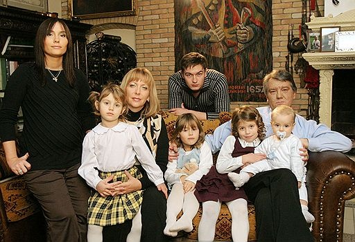 Виктор Ющенко в кругу своей семьи. Фото: пресс-служба