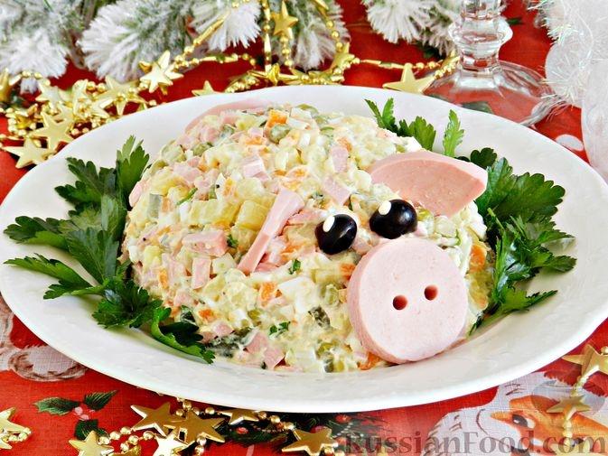 Пошаговые рецепты на Новый год Свиньи фото 12