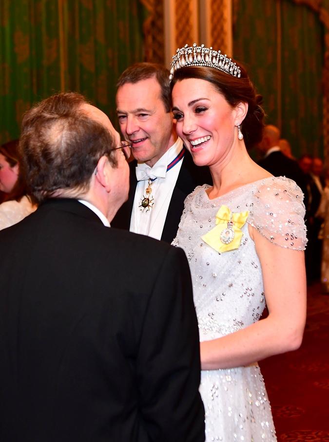 Кейт Миддлтон на дипломатическом приеме  Фото: REUTERS