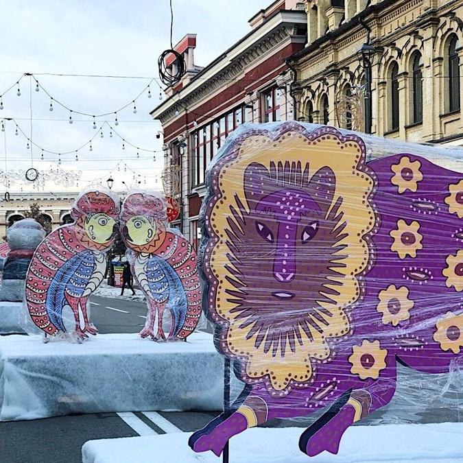 Киевляне уже могут наблюдать подготовку к открытию новогоднего городка Фото: Folk Ukraine