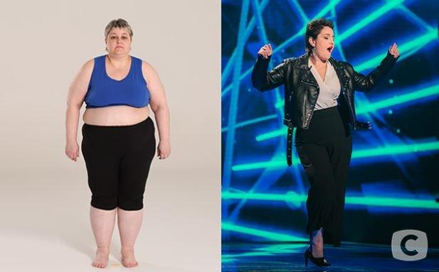 Наталия Валигурская. Вес до - 140 кг. После - 82 кг. Похудела на 58 кг. Фото: СТБ