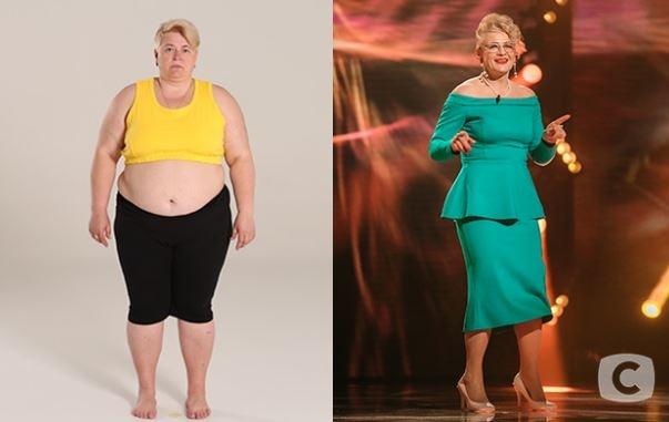 Людмила Мотыка. Вес до - 128 кг. После - 68 кг. Похудела на 60 кг. Фото: СТБ