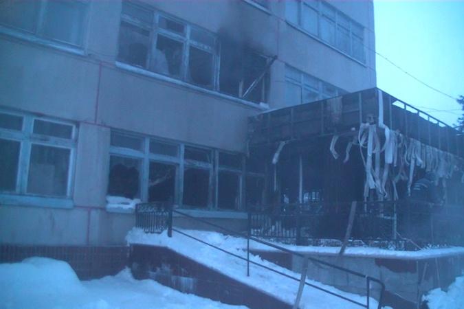 В Харьковской области сгорели два этажа санатория фото 1