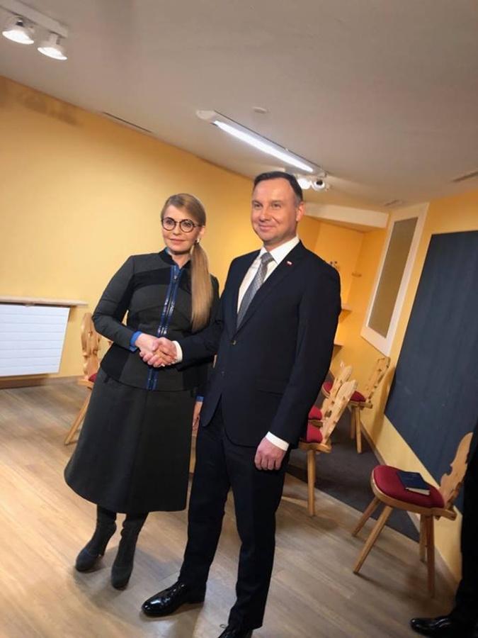 Юлия Тимошенко встретилась с президентом Польши Анджеем Дудой фото 1