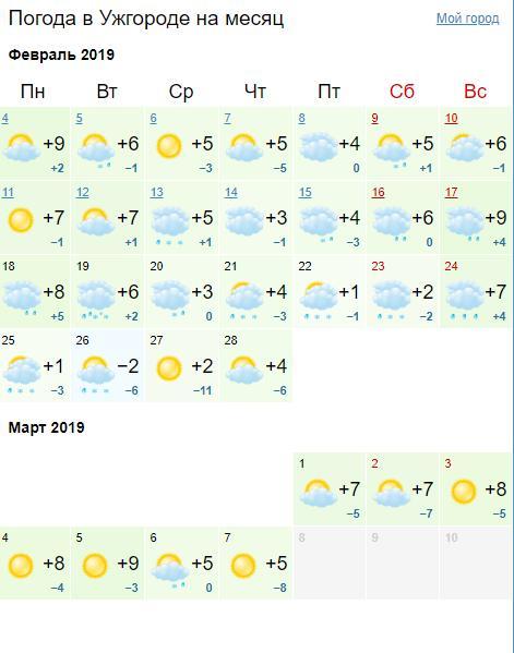 Погода на февраль 2019 года: точный прогноз погоды