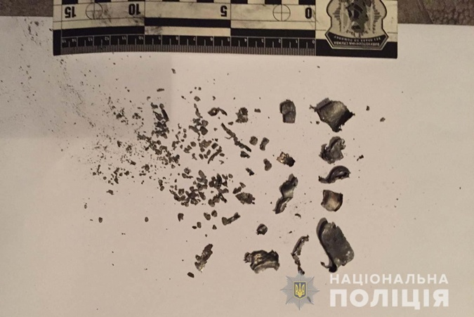 Осколки гранаты. Фото: rv.npu.gov.ua