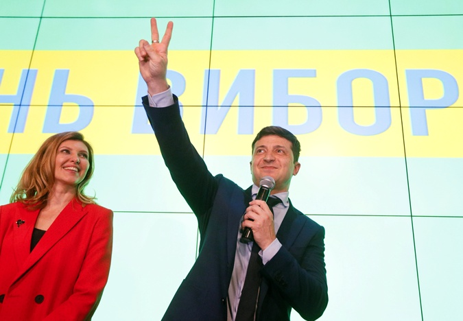 Зеленский с супругой Еленой. Фото: REUTERS