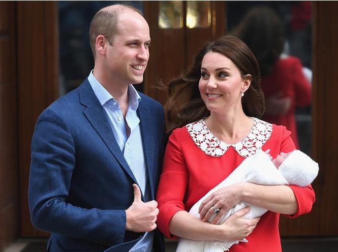 Принц Уильям и Кейт Миддлтон на выписке из госпиталя св. Марии, 23 апреля 2018 года. Фото: instagram.com/kensingtonroyal