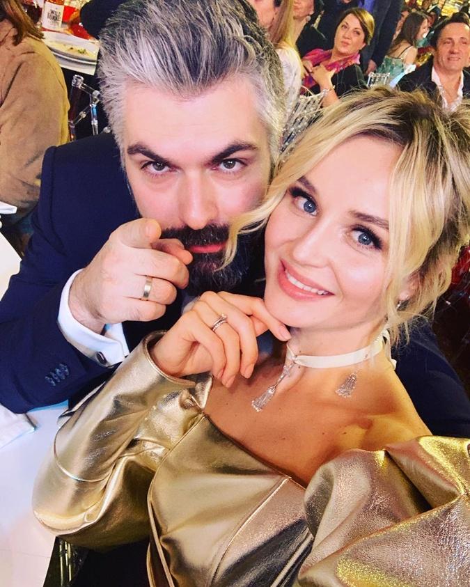 Полина Гагарина с мужем Дмитрием Исхаковым.
