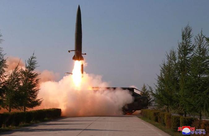 Ракетные учения в КНДР 9 мая.