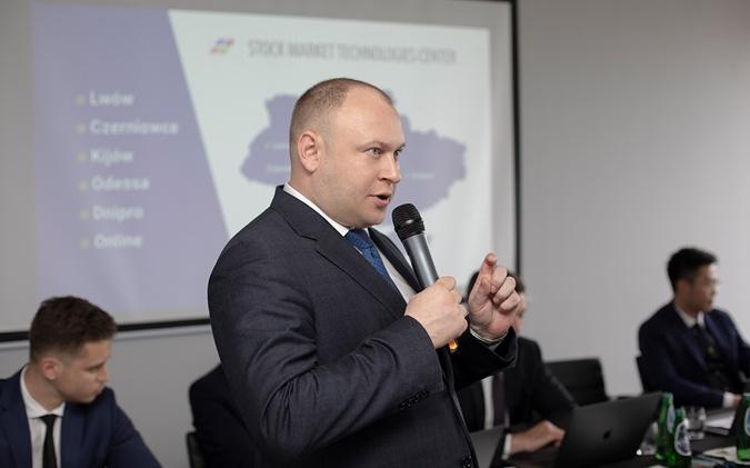 Глава ГК ЦБТ Богдан Троцько представил  инновационные разработки компании в сфере структурированных продуктов инвестирования.