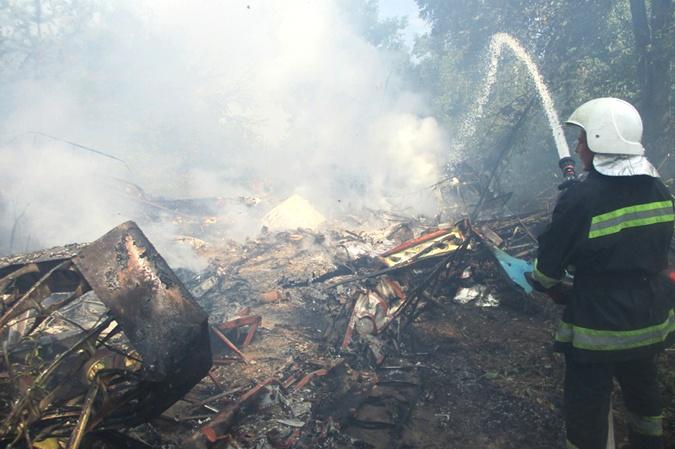 В Полтавской области разбился самолет АН-2 фото 1
