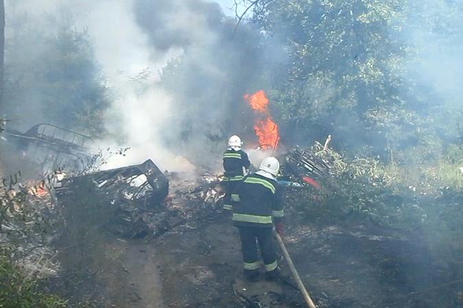 В Полтавской области разбился самолет АН-2 фото 2