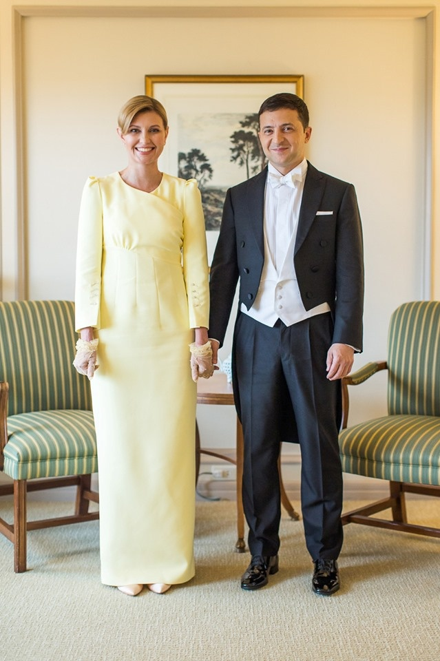 Зеленская выдержала дресс-код white tie безукоризненно. Фото: Офис президента