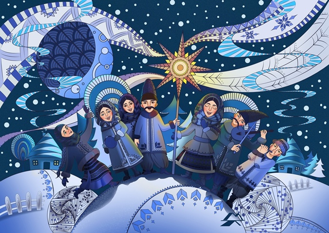 Привітання з Різдвом Христовим картинки. Фото: webmandry.com.ua