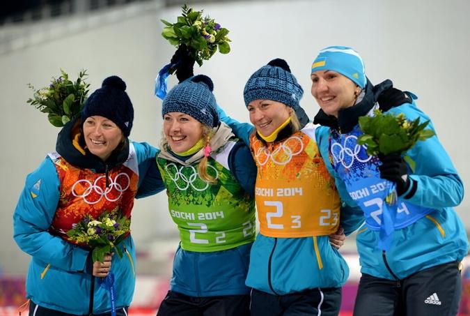 Сестры Семеренко, Джима и Пидгрушная завоевали золото на ОИ-2014 в Сочи