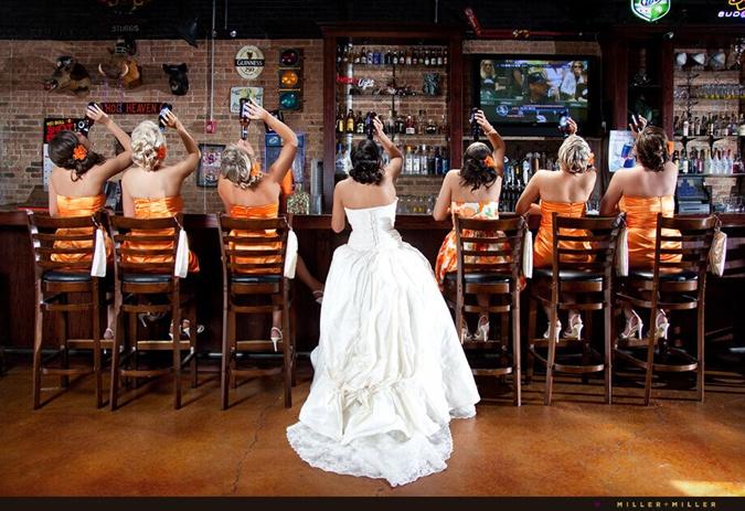 Невеста в пивной - старинная немецкая традиция.