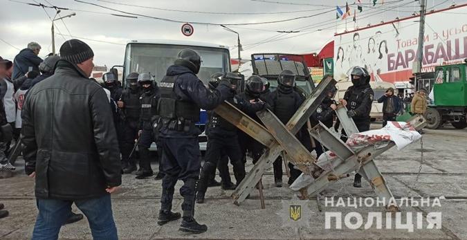 Столкновения в Харькове у рынка