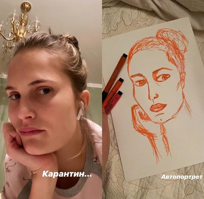 Алла Костромичева рисует себя любимую. Фото: Инстаграм