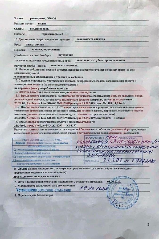 Кокаин и каннабиоды анализ обнаружил в моче Ефремова.