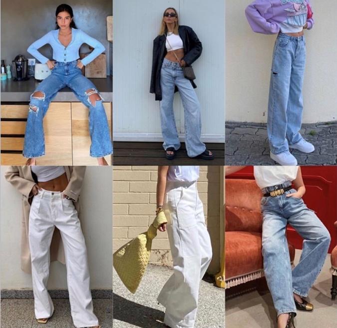 Широкие джинсы всегда в моде