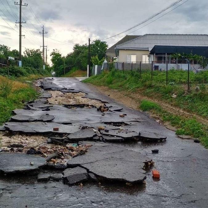 Дорога в Виноградовке. Фото: Соцсети