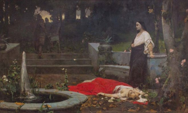 Смерть Мессалины. 1889–1892. Х., м. 300 × 500 см. Музей
