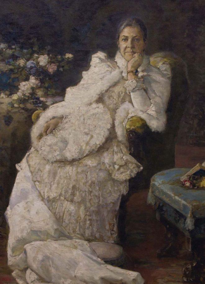 Портрет Эмилии Праховой. Х., м. 200 × 125 см. Музей