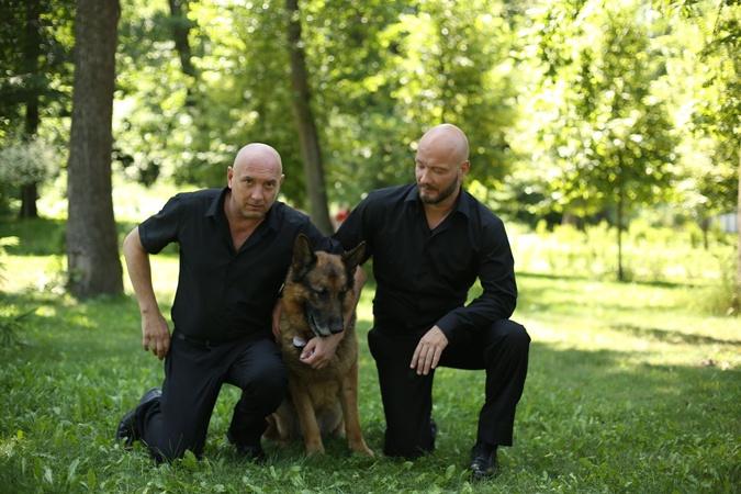Матерая троица: Гнездиов (Михаил Жонин), Пес (он же – Мухтар) и Макс (Никита Панфилов). Фото: ICTV