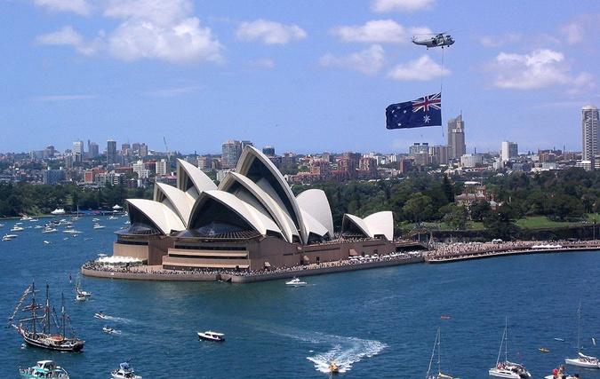 День Австралии отмечают регатой. Фото: Википедия